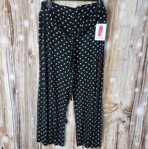 High Waist Wide Leg Crop Cropped Pants Polka Dot